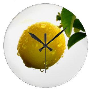 Limão do amarelo do pulso de disparo de parede relógios para paredes