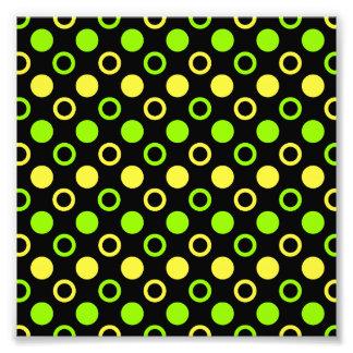 Limão e anéis e bolinhas do limão impressão de foto