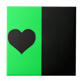 Limão e coração preto azulejos