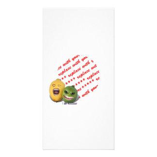 Limão e limão de Screamin com limão Zester Cartão Com Foto Personalizado