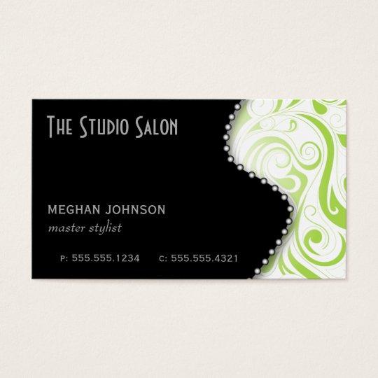 Limão elegante do cartão de visita da nomeação