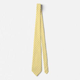 Limão - gravatas brancas amarelas do teste padrão