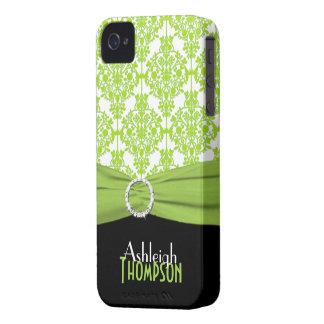 Limão personalizado, preto, damasco branco capinhas iPhone 4