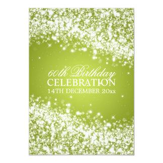 Limão Sparkling da onda da 60th festa de Convites Personalizado