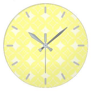 Limão - teste padrão amarelo do shippo relógio grande