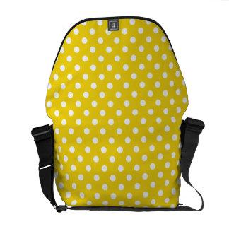 Limão - teste padrão de bolinhas amarelo bolsa mensageiro
