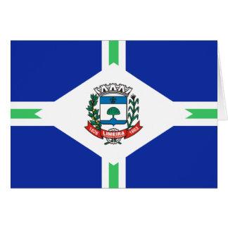 Limeira Sao Paulo bandeira de Brasil, Brasil Cartão Comemorativo
