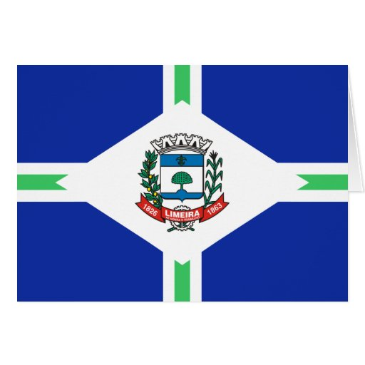 Limeira Sao Paulo bandeira de Brasil, Brasil Cartões