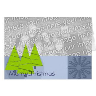 Limeiras retros do Feliz Natal - Cartão Comemorativo