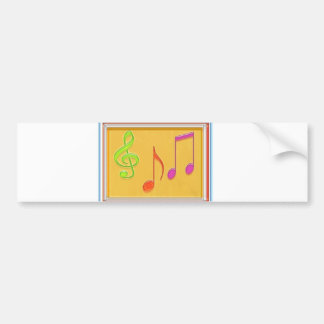 Limite a soar bom - símbolos de música da dança adesivo para carro