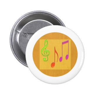 Limite a soar bom - símbolos de música da dança bóton redondo 5.08cm