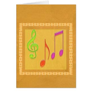 Limite a soar bom - símbolos de música da dança cartão comemorativo