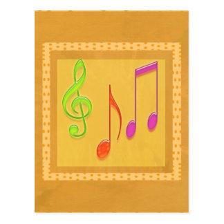 Limite a soar bom - símbolos de música da dança cartão postal