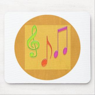 Limite a soar bom - símbolos de música da dança mouse pad