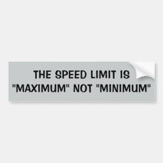 Limite de velocidade: Máximo nao mínimo Adesivo Para Carro