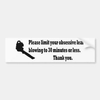 Limite por favor seu sopro da folha adesivo para carro