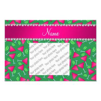 Limões cor-de-rosa verdes conhecidos feitos sob impressão de foto