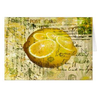 Limões do cartão