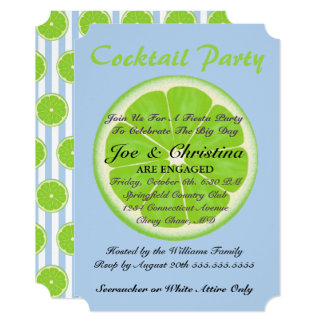 Limões e cartão do cocktail da festa do Seersucker
