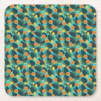 limões e cerceta das laranjas porta-copo de papel quadrado