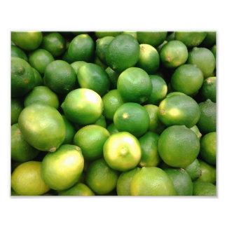 Limões verdes impressão de foto