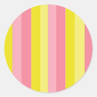 Limonada cor-de-rosa listrada adesivo