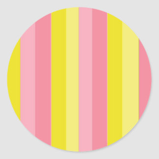 Limonada cor-de-rosa listrada adesivo redondo