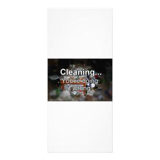 Limpando o estão fazendo-o errado! 10.16 x 22.86cm panfleto
