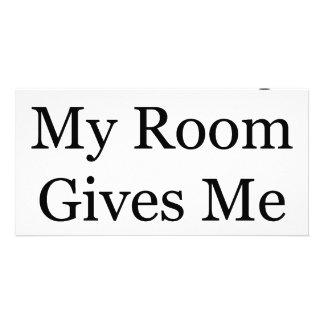 Limpar minha sala dá-me o prazer cartao com foto personalizado