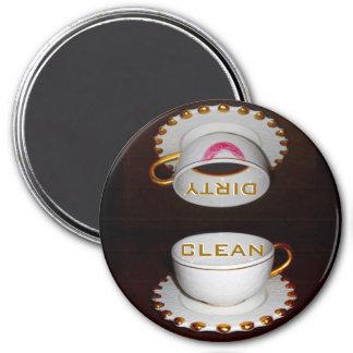 Limpe a cozinha suja da máquina de lavar louça ímã redondo 7.62cm