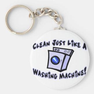 Limpe como uma máquina de lavar chaveiros