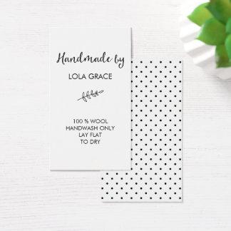 Limpe Handmade preto & branco perto Cartão De Visitas