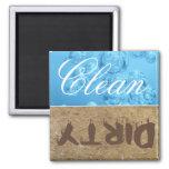Limpe/ímã sujo da máquina de lavar louça imã de refrigerador