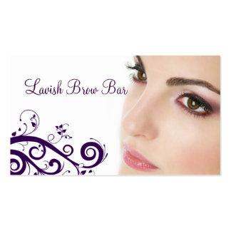Limpe o cartão de visita floral da cosmetologia (r