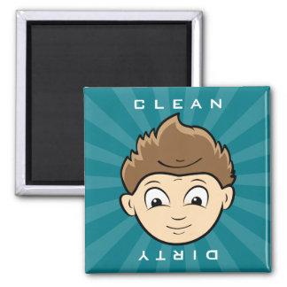 Limpe o ímã sujo da máquina de lavar louça do ímã quadrado