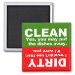 Limpe o ímã sujo da máquina de lavar louça imã