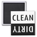 Limpe o ímã sujo da máquina de lavar louça ima