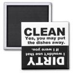 Limpe o ímã sujo da máquina de lavar louça imãs de refrigerador