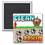 Limpe o ímã sujo da máquina de lavar louça imãs