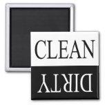 Limpe o ímã sujo-Preto da máquina de lavar louça Imã De Geladeira