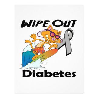 Limpe para fora o diabetes panfleto coloridos