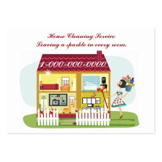 Limpeza da casa cartão de visita grande