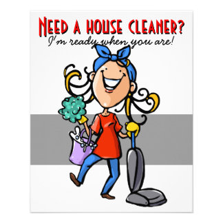 Limpeza da casa, negócio feito sob encomenda relat panfleto personalizados