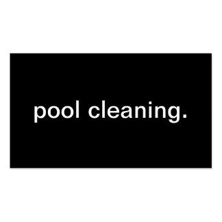 Limpeza da piscina cartões de visitas