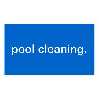 Limpeza da piscina modelo cartoes de visitas