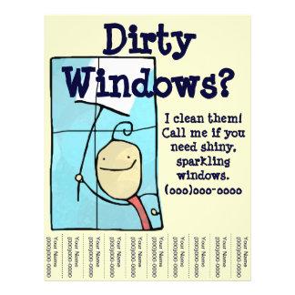 Limpeza de janela panfleto coloridos