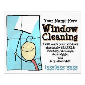 Limpeza de janela. Insecto relativo à promoção das Panfleto Coloridos