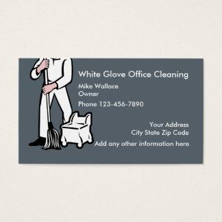 Limpeza do escritório cartão de visitas