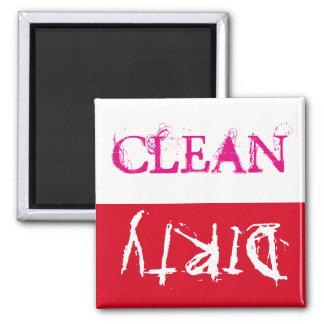 Limpo ou sujo… sua chamada!! ímã quadrado