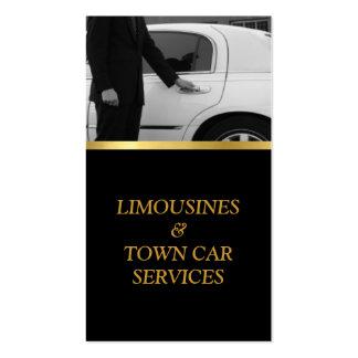 Limusina, Limo, cartão da cidade, serviço do Cartões De Visitas